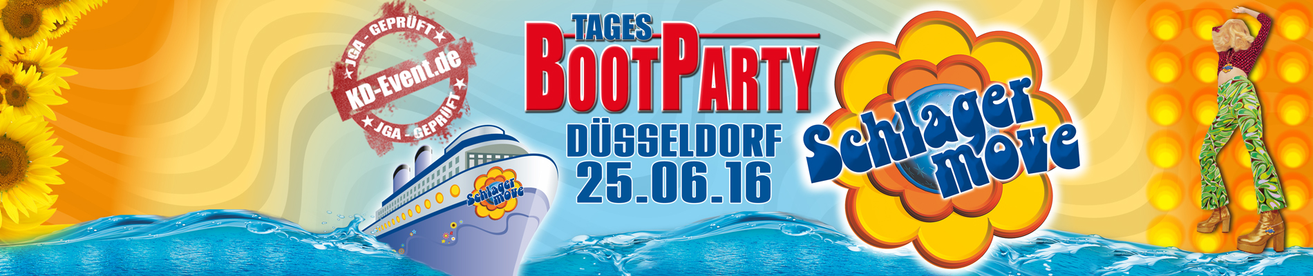 Schlagermove Tages-Bootparty 25.06.2016