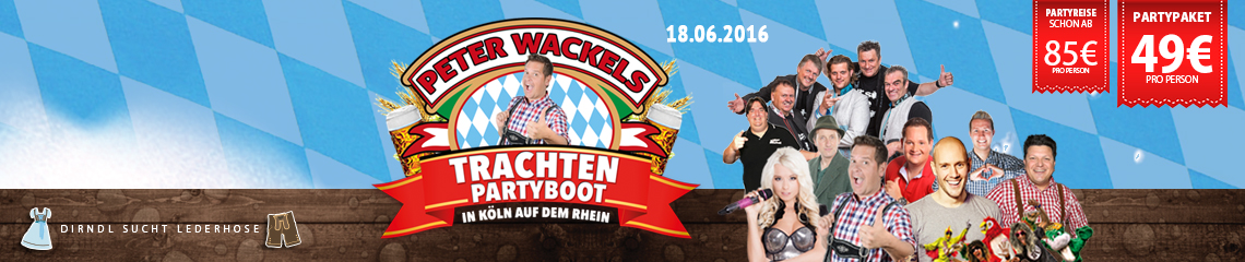 Peter Wackel�s Trachtenbootparty 18.06.2016 in K�ln